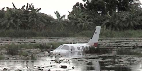 Malibu after successful forced landing in Bang Bla (South of Bangkok)